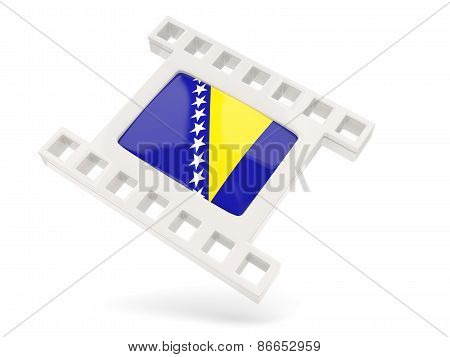 Movie Icon With Flag Of Bosnia And Herzegovina