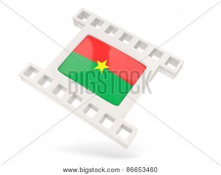Movie Icon With Flag Of Burkina Faso