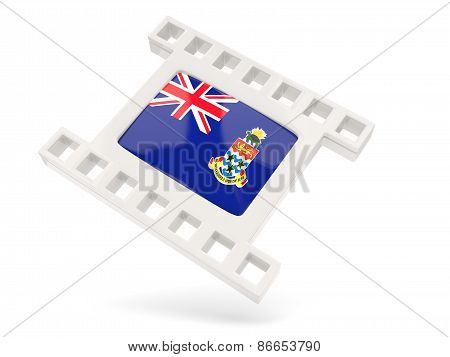 Movie Icon With Flag Of Cayman Islands