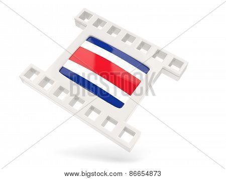 Movie Icon With Flag Of Costa Rica
