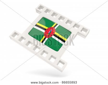 Movie Icon With Flag Of Dominica