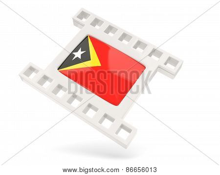 Movie Icon With Flag Of East Timor