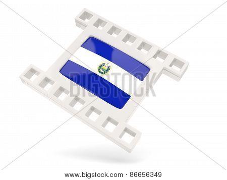 Movie Icon With Flag Of El Salvador