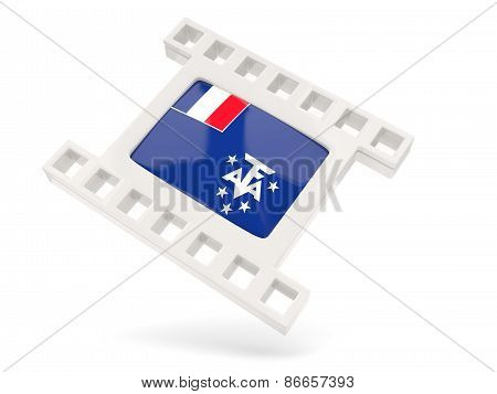 Movie Icon With Flag Of French Southern Territories