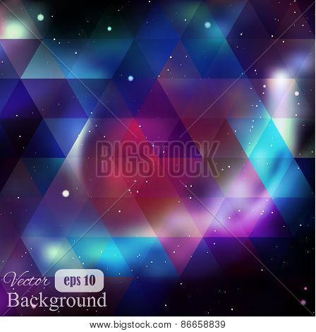 Triangle background with galaxy texture