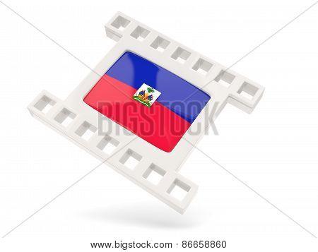 Movie Icon With Flag Of Haiti