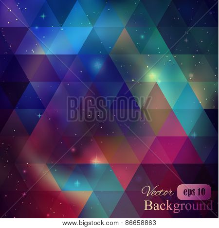 Triangle background with galaxy