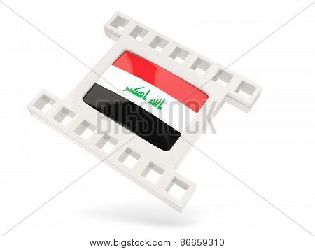 Movie Icon With Flag Of Iraq