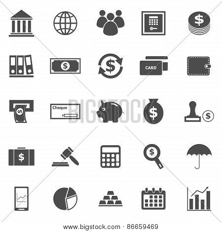 Banking Icons On White Background