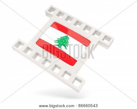 Movie Icon With Flag Of Lebanon
