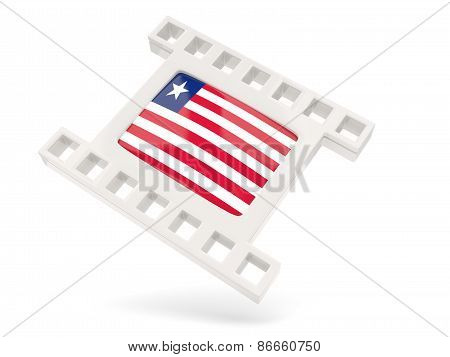 Movie Icon With Flag Of Liberia