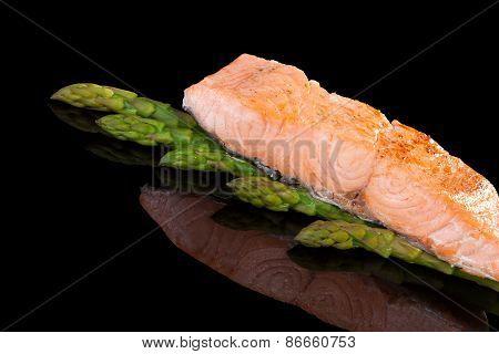 Delicious Salmon Steak.