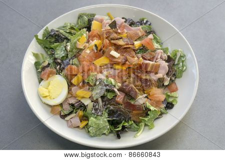 Chef salad with bacon