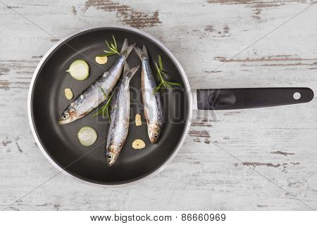 Culinary Seafood Background.
