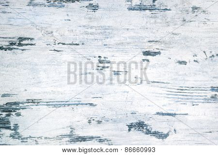 White And Blue Anitque Wooden Background.