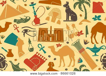 Egyptian seamless background