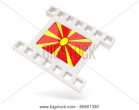 Movie Icon With Flag Of Macedonia
