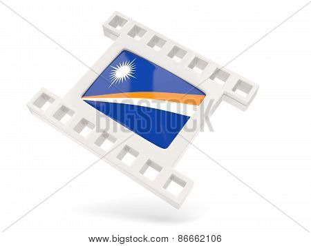 Movie Icon With Flag Of Marshall Islands