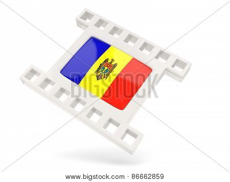 Movie Icon With Flag Of Moldova