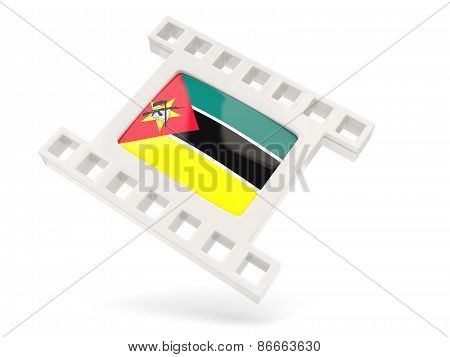 Movie Icon With Flag Of Mozambique