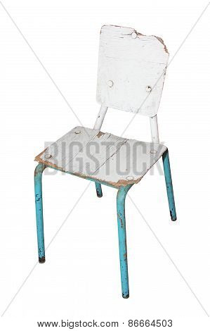 White Damaged Chair