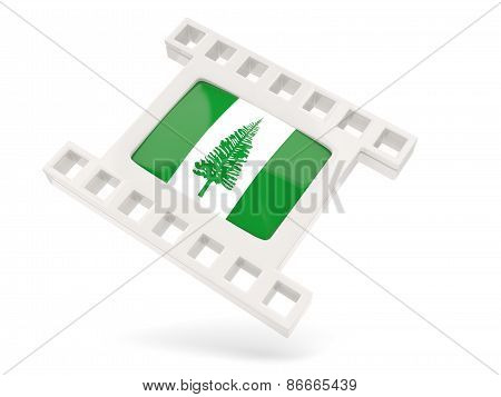 Movie Icon With Flag Of Norfolk Island