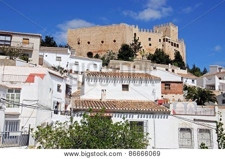 White town with castle, Velez Blanco.