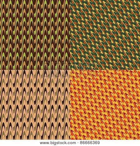 Set Of Colored Abstract Patterns