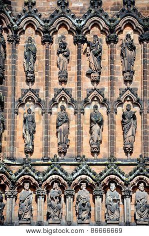 Lichfield Cathedral detail.