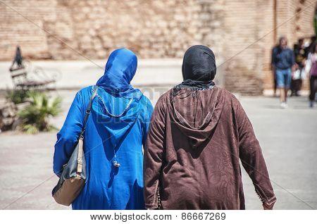 Moroccan Women In Djellaba