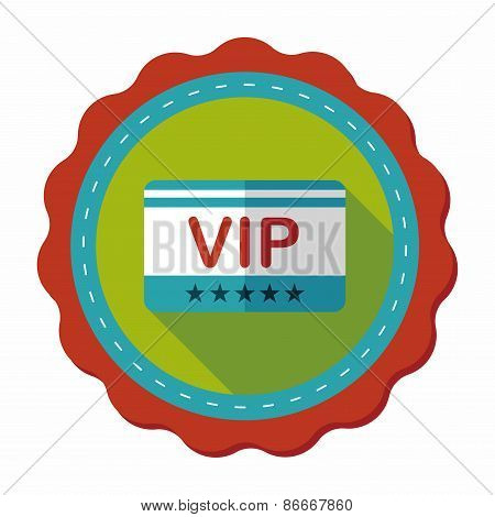 Shopping Vip Card Flat Icon With Long Shadow,eps10