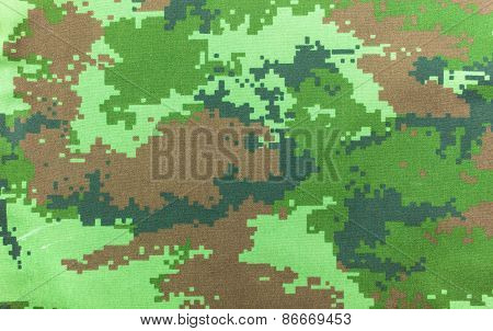 Military Camouflage Fabric Background Texture