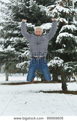 man standing jump