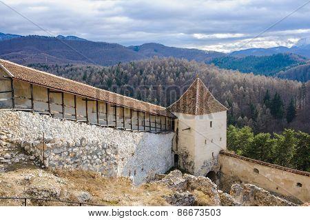 Rasnov fortress ruins in Romania