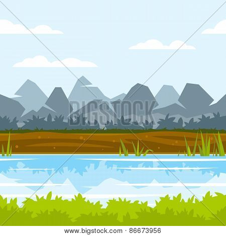 Mountains Game Background