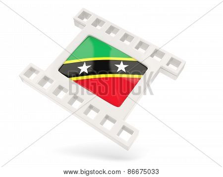 Movie Icon With Flag Of Saint Kitts And Nevis
