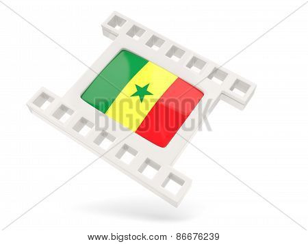 Movie Icon With Flag Of Senegal
