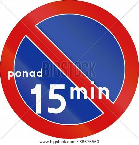 No Parking Over 15 Minutes In Specified Time In Poland