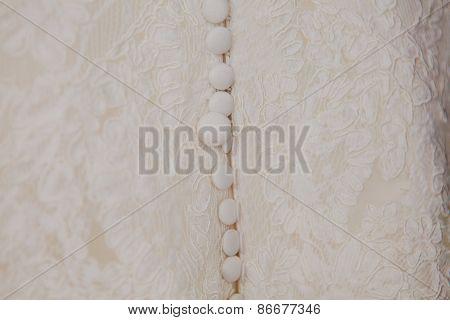 Buttons on a wedding dress