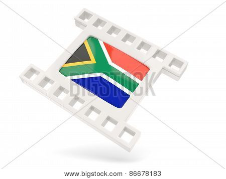Movie Icon With Flag Of South Africa
