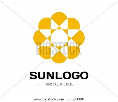Abstract new vector logo template for branding and flat design