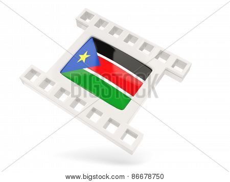 Movie Icon With Flag Of South Sudan