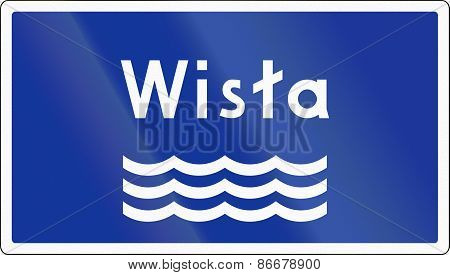 River Sign In Poland