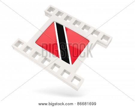 Movie Icon With Flag Of Trinidad And Tobago