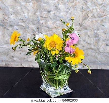Flowers In A Small Vase