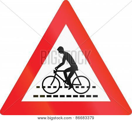 Cyclists Crossing In Austria