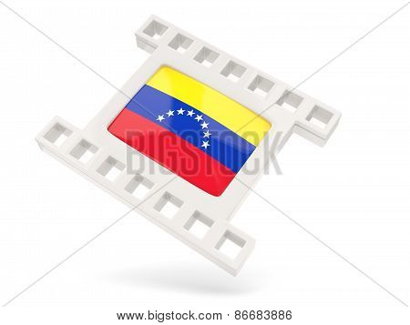 Movie Icon With Flag Of Venezuela