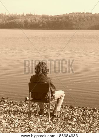 meditation at the lake