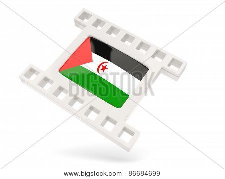 Movie Icon With Flag Of Western Sahara