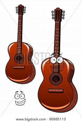 Classical acoustic guitar cartoon character